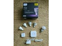 Philips hue colour and ambience kit gu10 and e27 white bulb and motion sensor