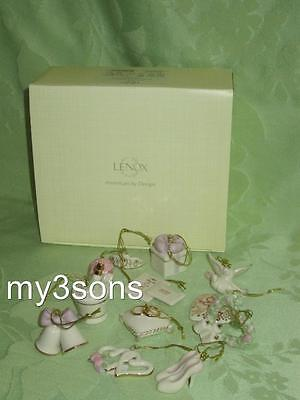 Lenox ~ Wedding Miniature Ornaments ~ set of 12 ~ NIB
