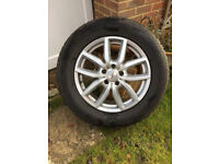 Four alloy wheels (brand DEZENT) with winter tyres (NANKANG SV-55) for Land Rover Discovery 3,4,or 5