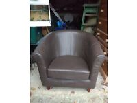 Next leather tub chair