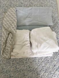 Baby crib organic bedding bundle