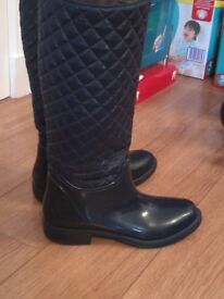 Italian ladies / women's welly boots size uk 4 / eur 37