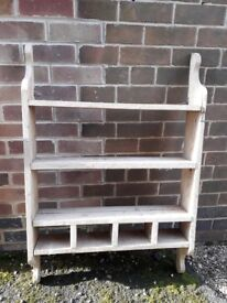 Very old wooden shelf unit - idal for shabby chicing