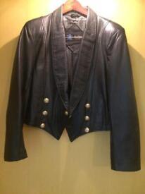 Bolero style leather Jacket