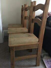 X 3 Identical Kitchen/Dining Chairs