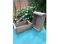 Vintage wooden crates - 16 available - £5 each