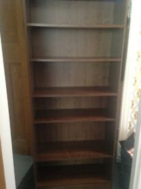 Walnut bookshelf - less than a year old - good condition