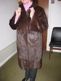 Luxury vintage fur coat, genuine mink fur