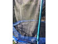 12ft Octagonal Trampoline + Safety Net / Enclosure + Ladder. Good Used Condition