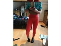 Pink Climalite Training Gym Long Tights