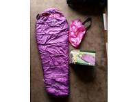 Coleman kids purple sleeping bag