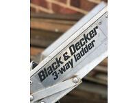 BLACK AND DECKER 3WAY LOFT LADDER