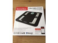 * TERRAILLON WEBCOACH PRIME BLUETOOTH SMART SCALE * £49.99 ARGOS PRICE * NEW IN BOX *
