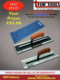 "NELA SUPERFLEX MK2 & PLASTICFLEX TROWEL 18"" X 4.3"" WITH REFINA 18"" Leather Trowel Wallet"
