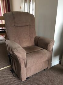 Excellent condition, electric recliner chair.