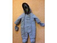 Baby boy snowsuit 3-6 months BHS