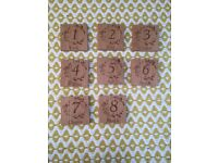 Wedding table numbers, 8 beautiful laser cut wooden tree and floral themed wedding decoration