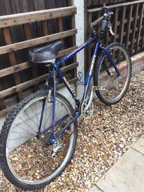 Vintage Roberts bike would make great restoration project 26 inch wheel hand made blue steel frame