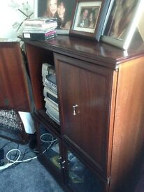 Mahogany tv/hifi corner unit