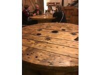 Cable drum tops for sale, ideal for making rustic furniture