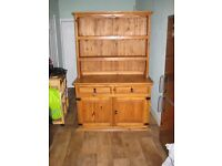 Pine Welsh Dresser with 2 drawers