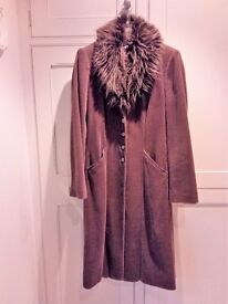 Marks and Spencer Brown Corduroy full length coat.