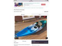 Wanted one man sit on kayak