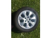 16 inch alloy wheel and tyre
