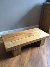 Stunning solid oak coffee table, £50, rrp 329. Upcycling ideal.