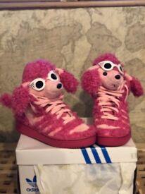 Rare Adidas Jeremy Scott high top poodle boots