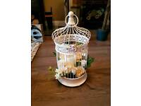 Wedding decorations - Birdcage centrepieces, table plan easel, scatter crystals and hanging hearts!