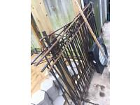 Scrap metal 6 meter cut solid iron fence FREE