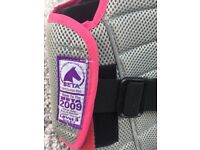 Horse riding child's body protector