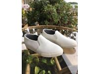 Unworn Next white slip on pumps trainers shoes
