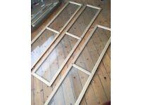 3 IKEA Billy bookshelf glass doors