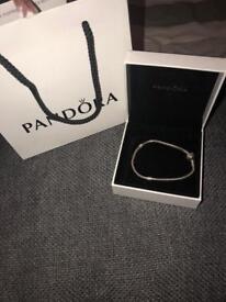 Genuine pandora bracelet in silver