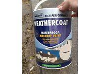 Large new 5ltr Homebase Smooth Weathercoat, masonry/render paint
