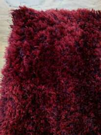 Wine red large rug