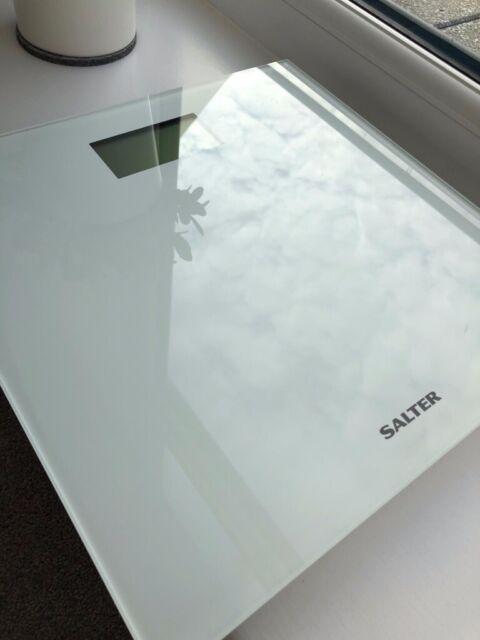 Salter Ultra Slim Glass Digital Bathroom / Personal Scale, White | in  Reading, Berkshire | Gumtree