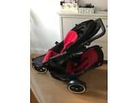 Phil and Teds explorer double buggy with cocoon and raincover