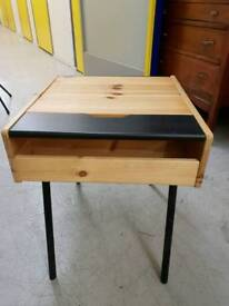 Retro side table with storage