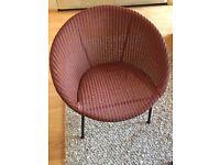 Lloyd Loom Lusty Vintage Pink Chair - Original Condition
