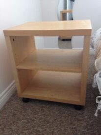 Ikea Malm Bedside / side table on wheels