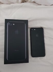 I phone 7 jet black 128gb locked to Vodafone £400 comes in box, headphones etc and a cover.