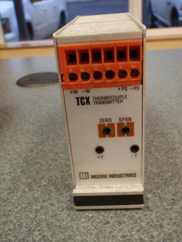 MOORE INDUSTRIES Thermocouple Transmitter TCX/J10-20MVFS/4-20MA/12-42DC-FA (DIN)