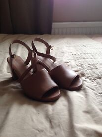 NEXT Ladies Tan Leather Sandles Size 6