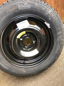 Continental tyre 195/65R15 91T including wheel