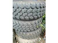 Mudstar tyres...land rover discovery..jeep