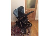 Icandy Apple pushchair/ buggy duck egg blue