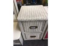White Wicker 2 drawer unit # 42861 £30